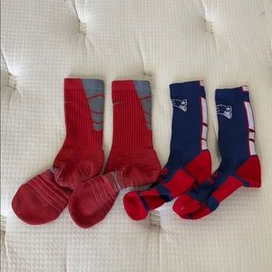 2pcs Men Nike and Patriots Sportswear Socks M
